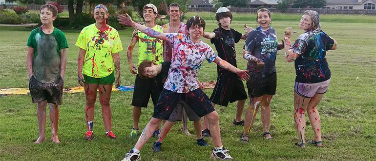 Youth Group paint war